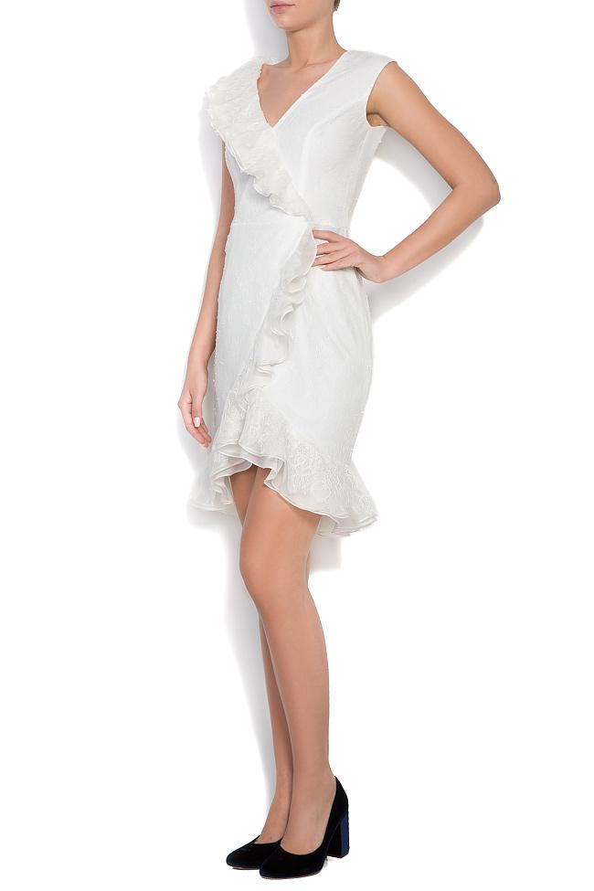 Kryss ruffled lace mini dress M Marquise image 1