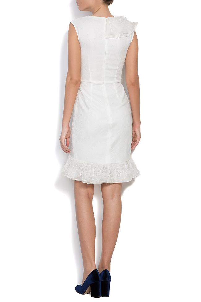 Kryss ruffled lace mini dress M Marquise image 2