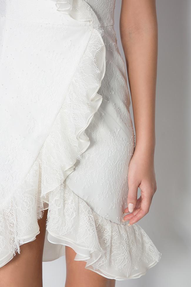 Kryss ruffled lace mini dress M Marquise image 3
