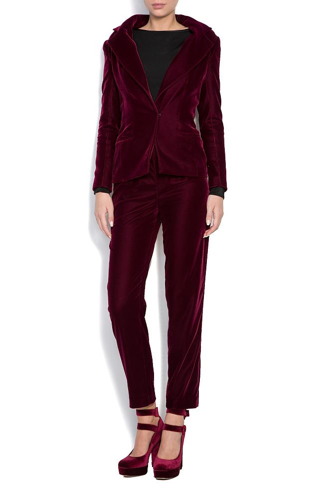 Silk velvet pants M Marquise image 1