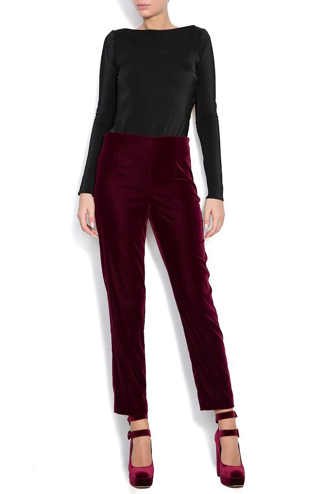 Silk velvet pants M Marquise image 0