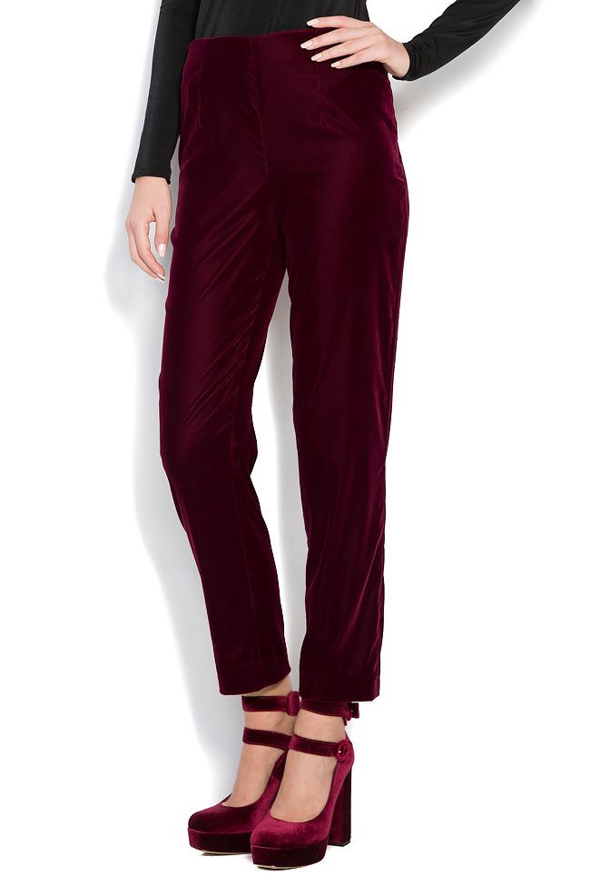 Silk velvet pants M Marquise image 2