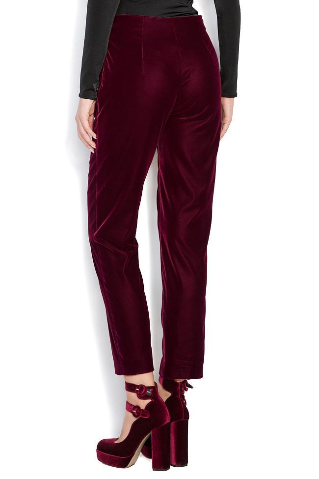 Silk velvet pants M Marquise image 3