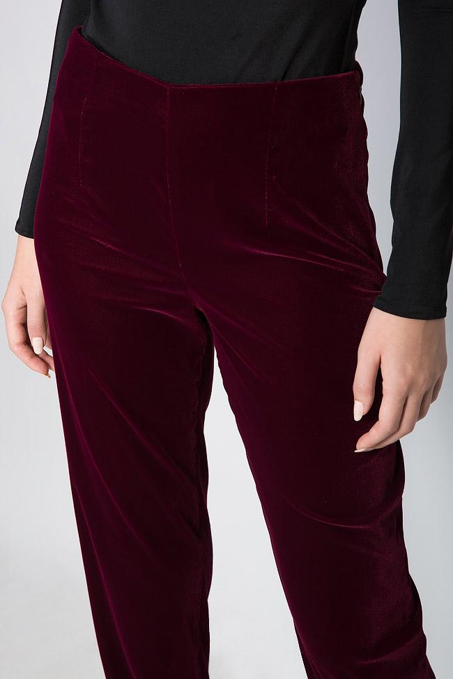 Silk velvet pants M Marquise image 4