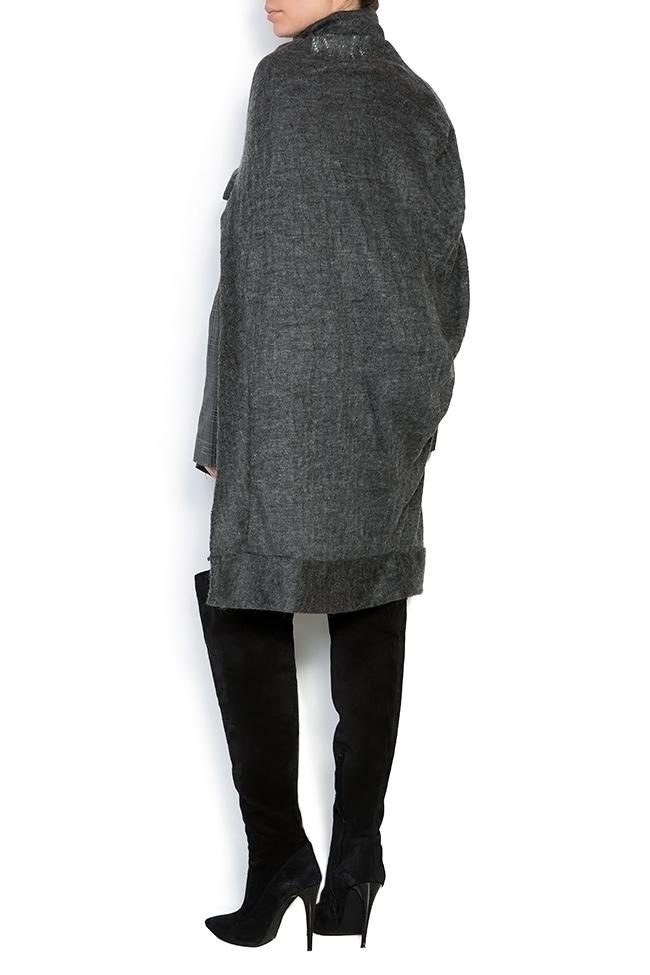 Capa asimetrica din amestec de lana Indi Studio Cabal imagine 2