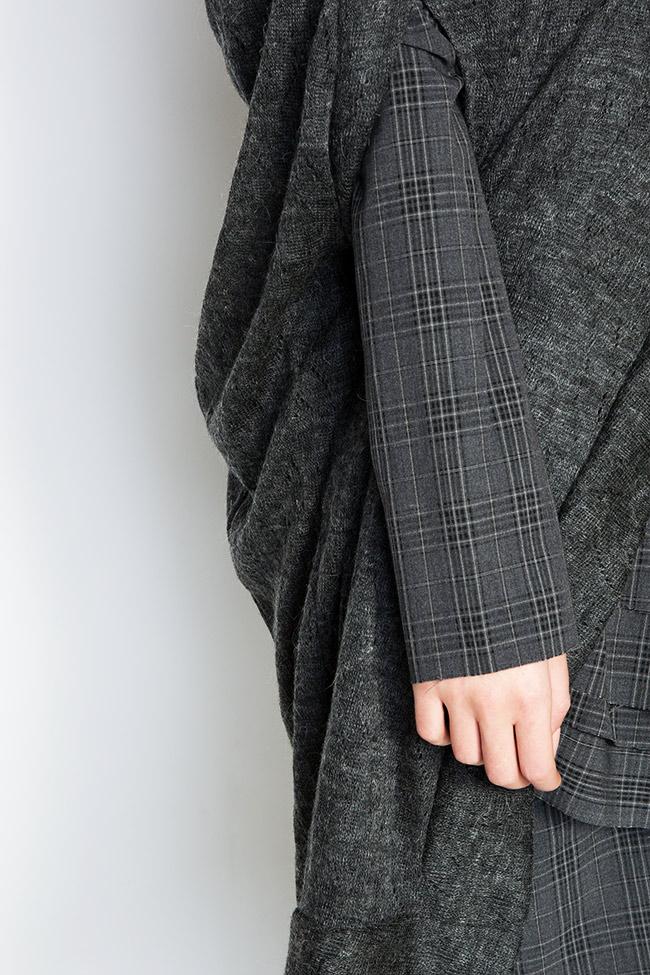 Capa asimetrica din amestec de lana Indi Studio Cabal imagine 3