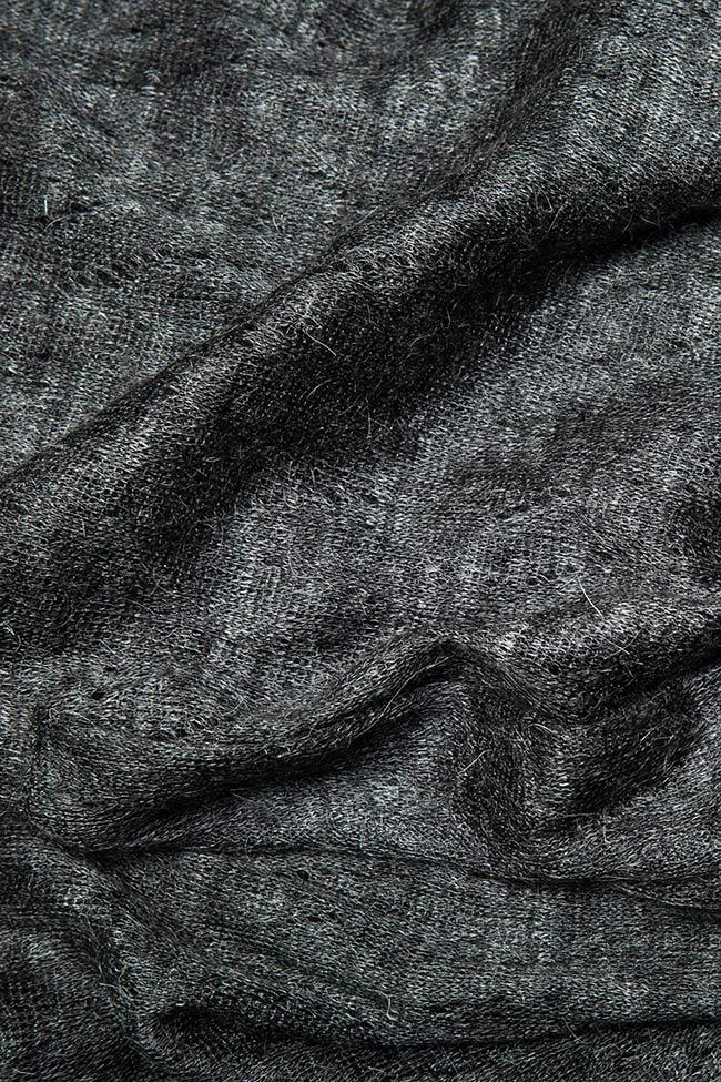 Capa asimetrica din amestec de lana Indi Studio Cabal imagine 4