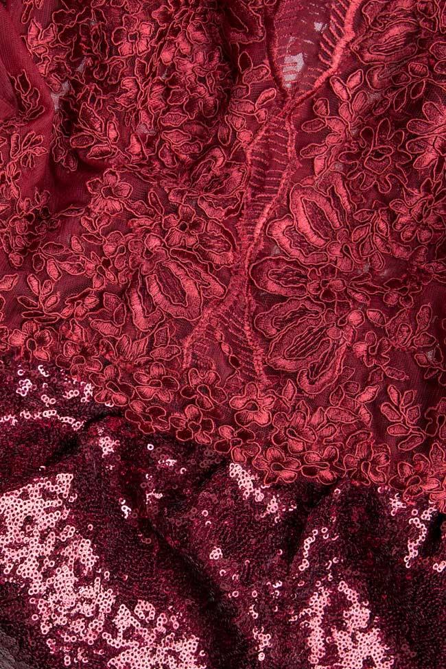 Robe en satin et dentelle avec paillettes Bien Savvy image 4