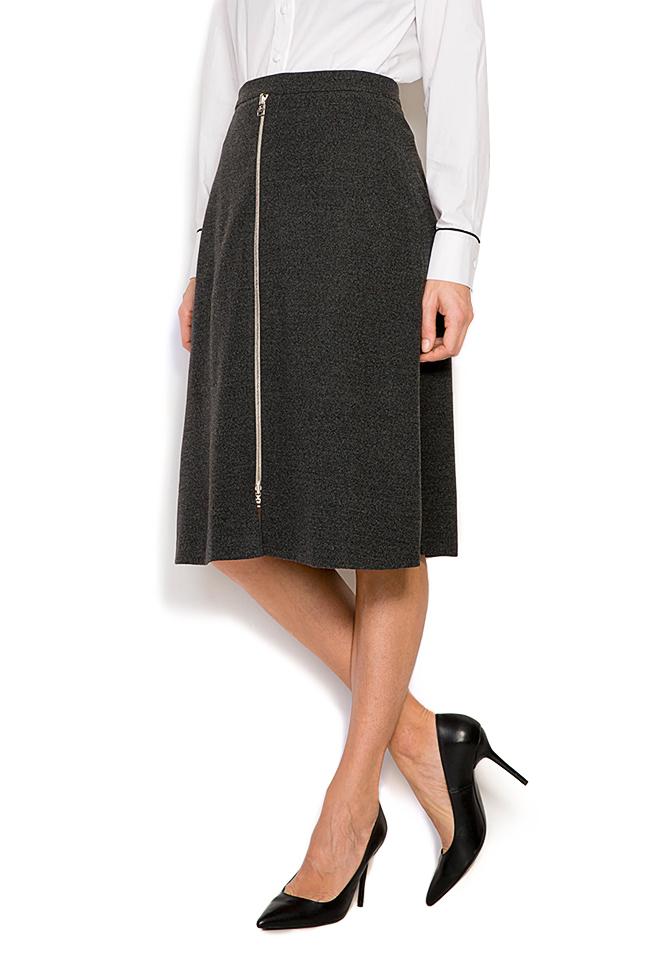 Wool-blend mini skirt Claudia Castrase image 1