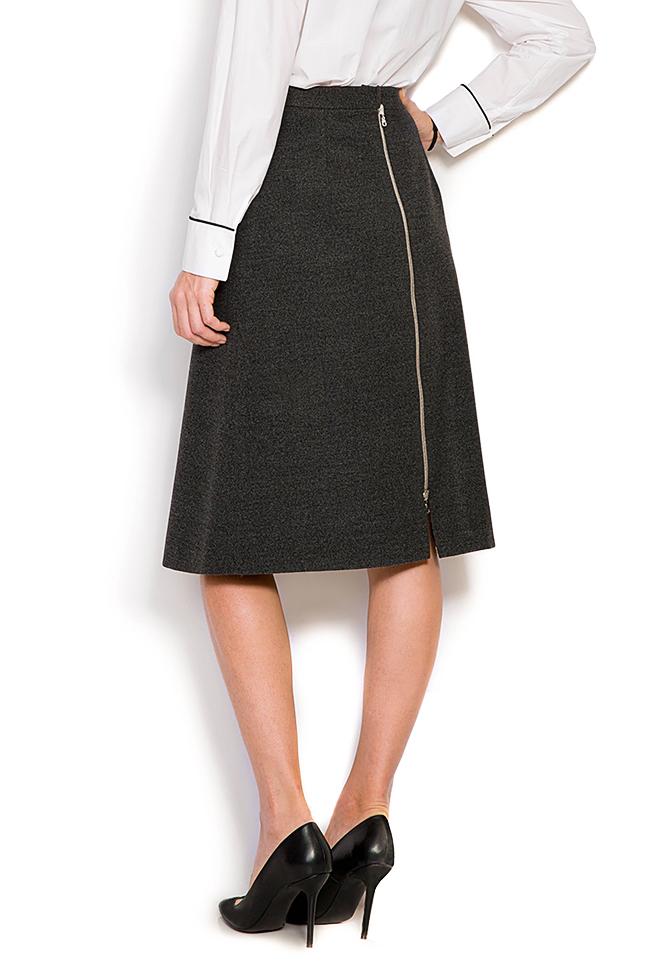 Wool-blend mini skirt Claudia Castrase image 2