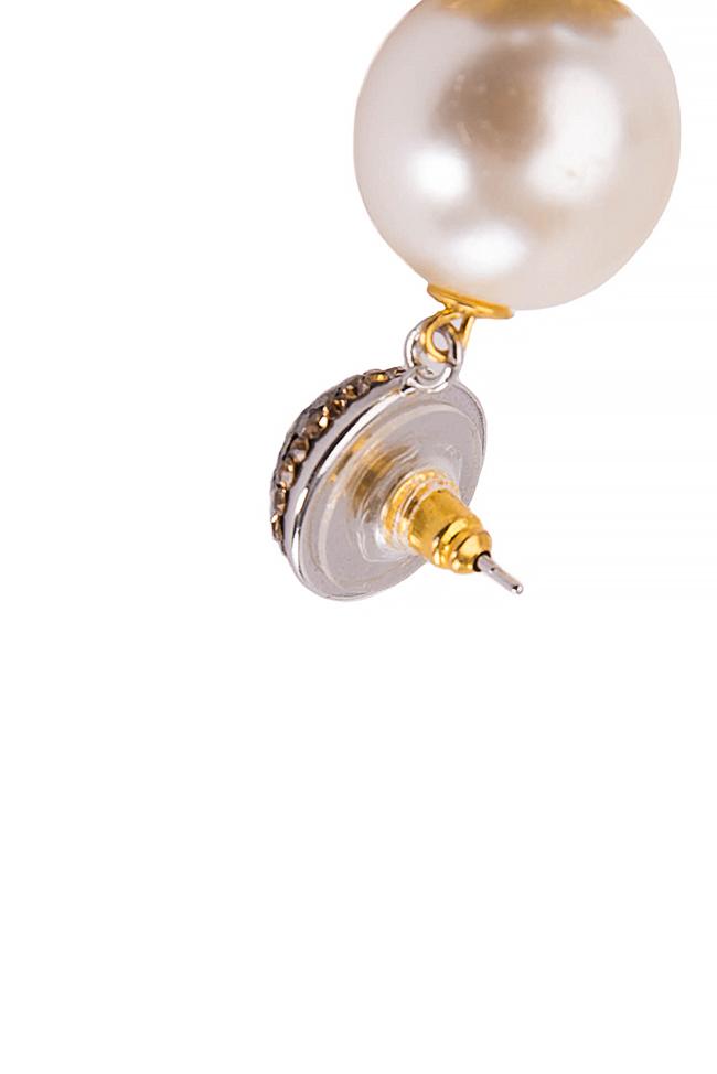 Silk tasseled earrings with crystals Bon Bijou image 3
