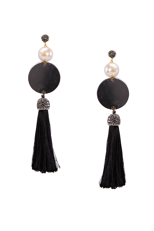 Tasseled mirror earrings Bon Bijou image 0