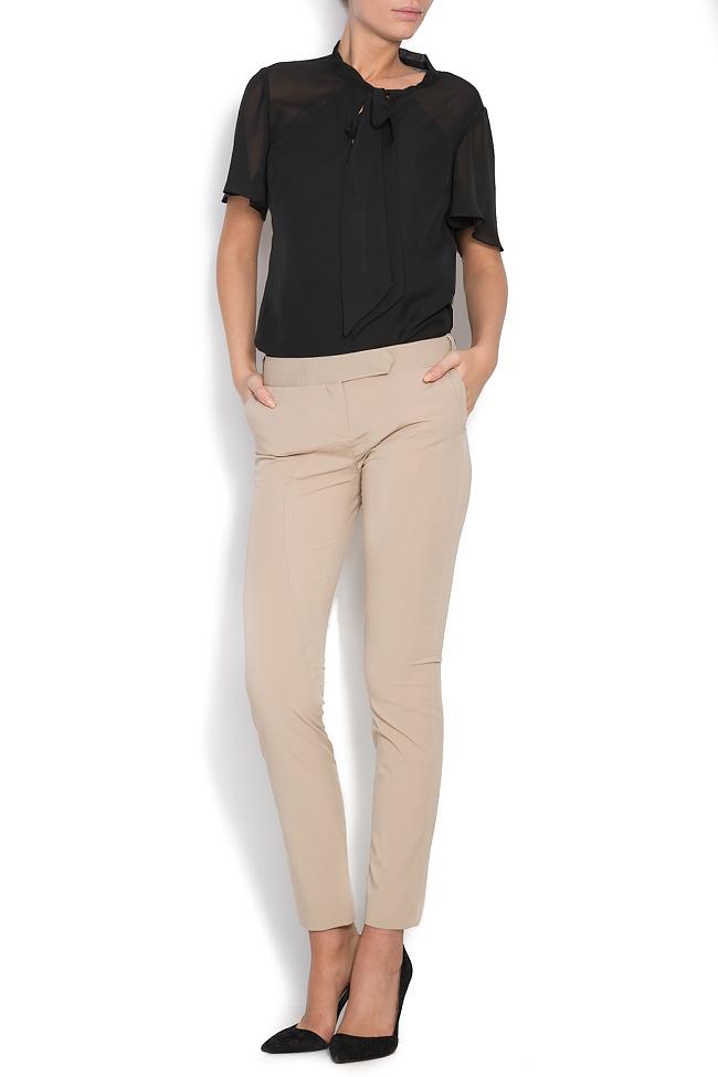 Stretch-wool slim-leg pants Arona Carelli image 0