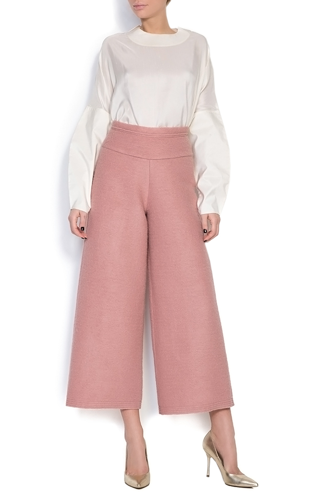 Cropped wool wide leg pants Daniela Barb image 0