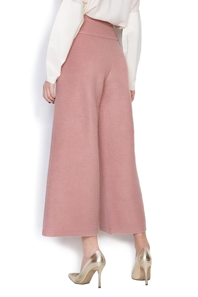 Cropped wool wide leg pants Daniela Barb image 2