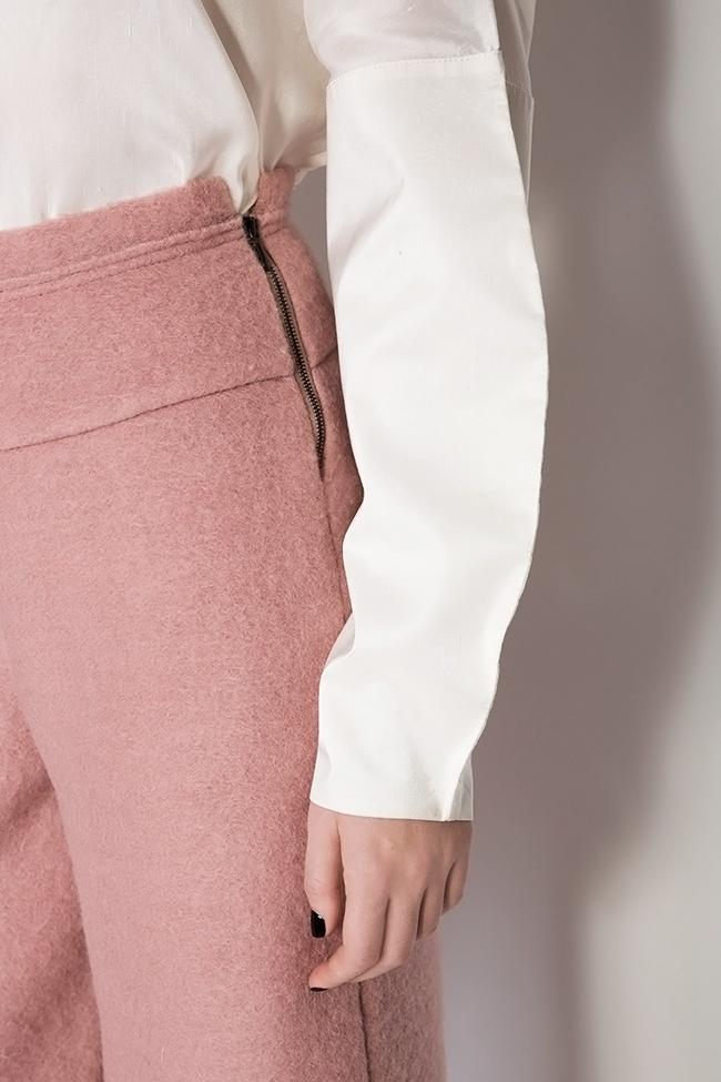 Cropped wool wide leg pants Daniela Barb image 3