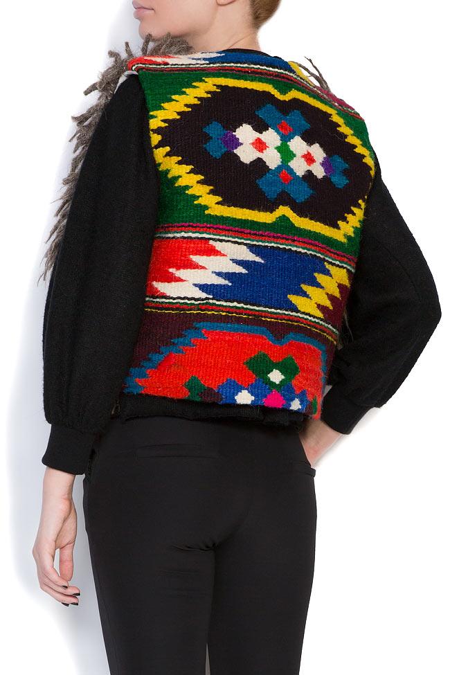 Embroidered wool gilet Nicoleta Obis image 2