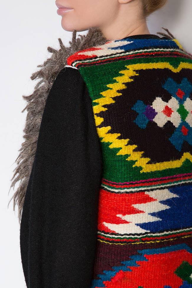 Embroidered wool gilet Nicoleta Obis image 3