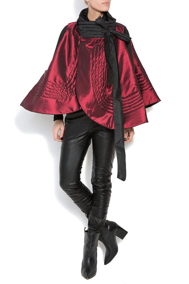 Veste ample, style cape, double face, 4 en 1 Edita Lupea image 4