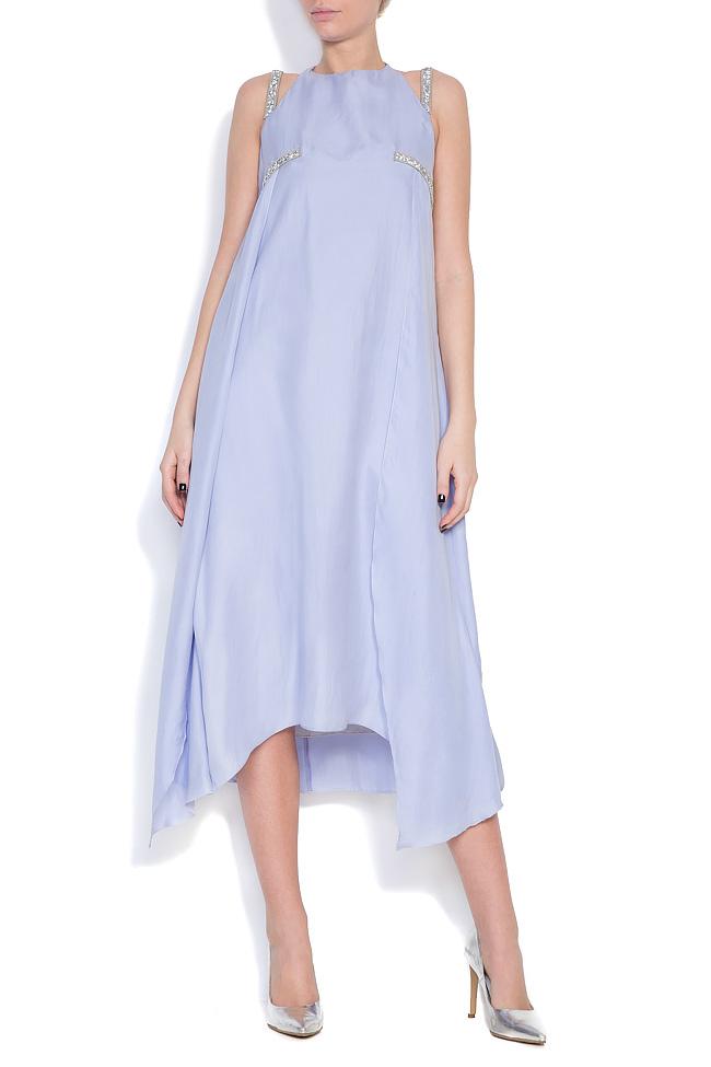 Hippolyta embellished silk asymmetric dress DALB by Mihaela Dulgheru image 0