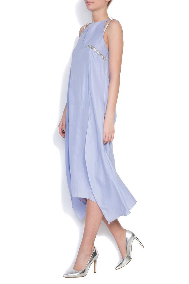 Hippolyta embellished silk asymmetric dress DALB by Mihaela Dulgheru image 1
