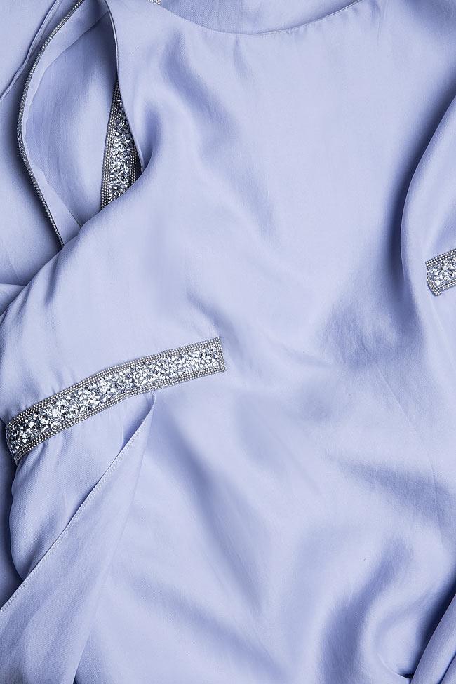 Hippolyta embellished silk asymmetric dress DALB by Mihaela Dulgheru image 4