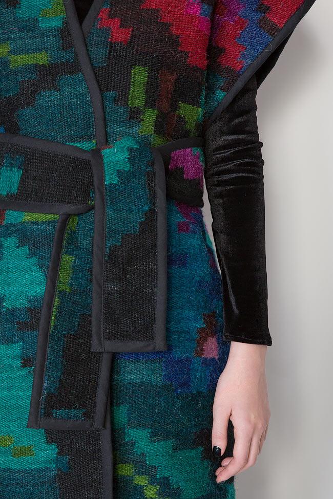 Vesta din lana si in tesuta manual Nicoleta Obis imagine 3