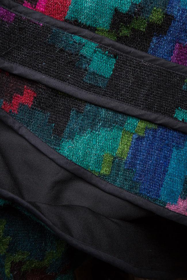 Vesta din lana si in tesuta manual Nicoleta Obis imagine 4