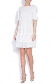 Ronen Haliva Ruffled cotton-jersey mini dress
