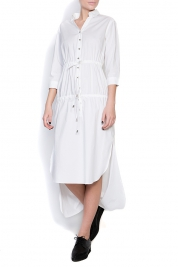 Ronen Haliva Cotton-poplin asymmetric shirt dress