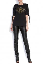 Ronen Haliva Bow-embellished stretch-cotton jersey T-shirt