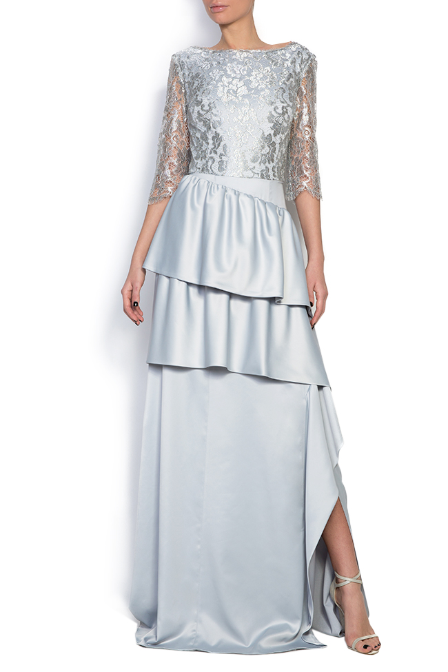 Lace and satin gown Romanitza by Romanita Iovan image 0