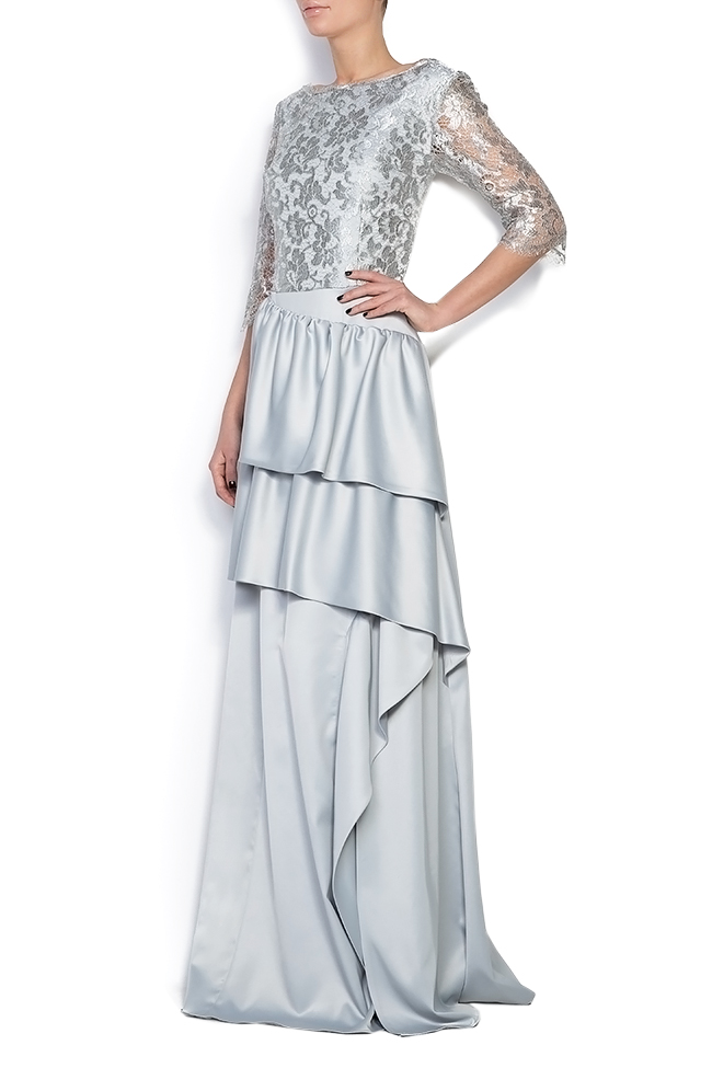 Lace and satin gown Romanitza by Romanita Iovan image 1