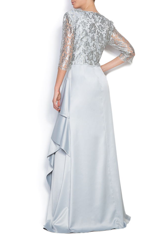Lace and satin gown Romanitza by Romanita Iovan image 2