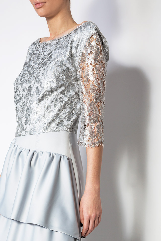 Lace and satin gown Romanitza by Romanita Iovan image 3