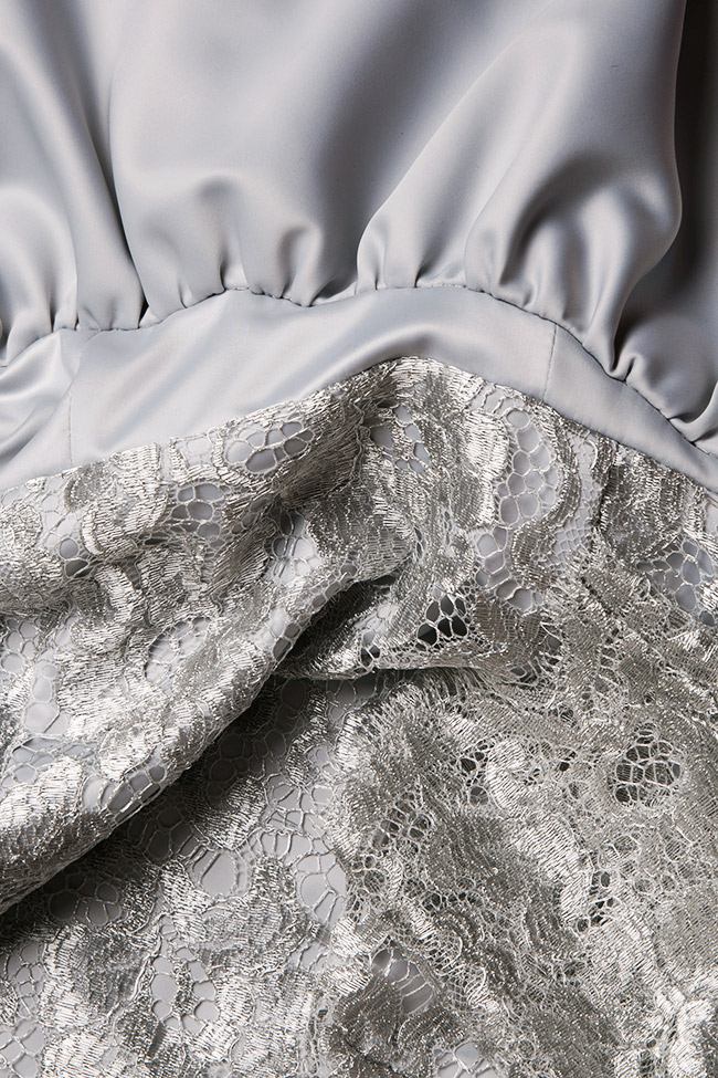 Lace and satin gown Romanitza by Romanita Iovan image 4