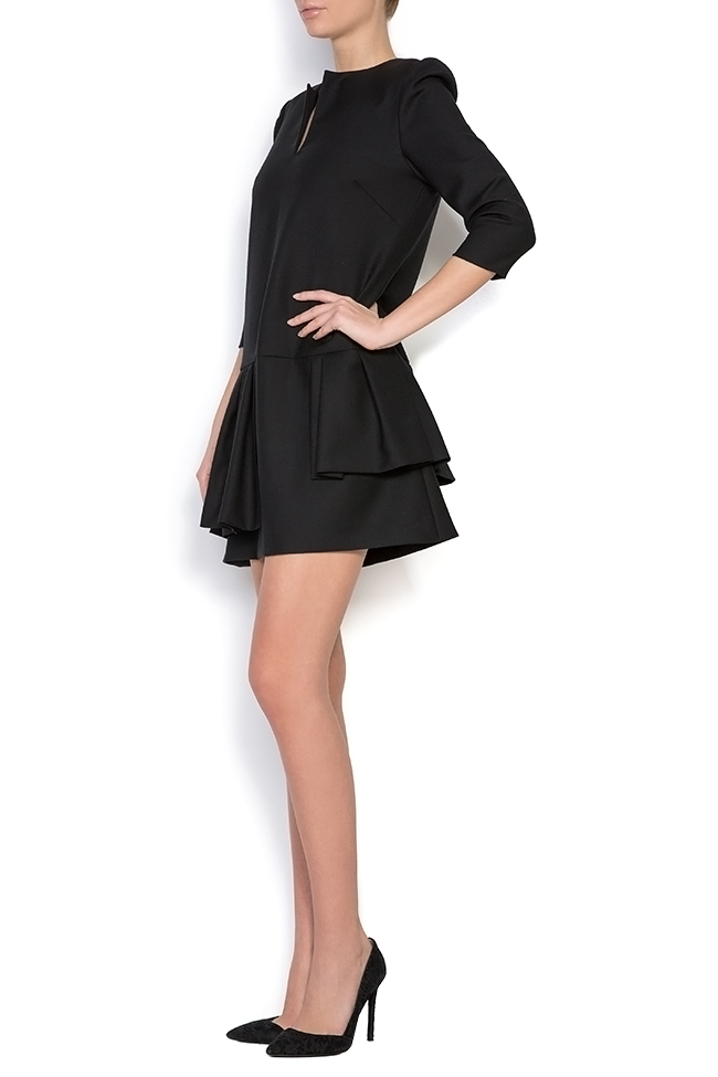 Robe asymétrique en mélange de laine Claudia Castrase image 1