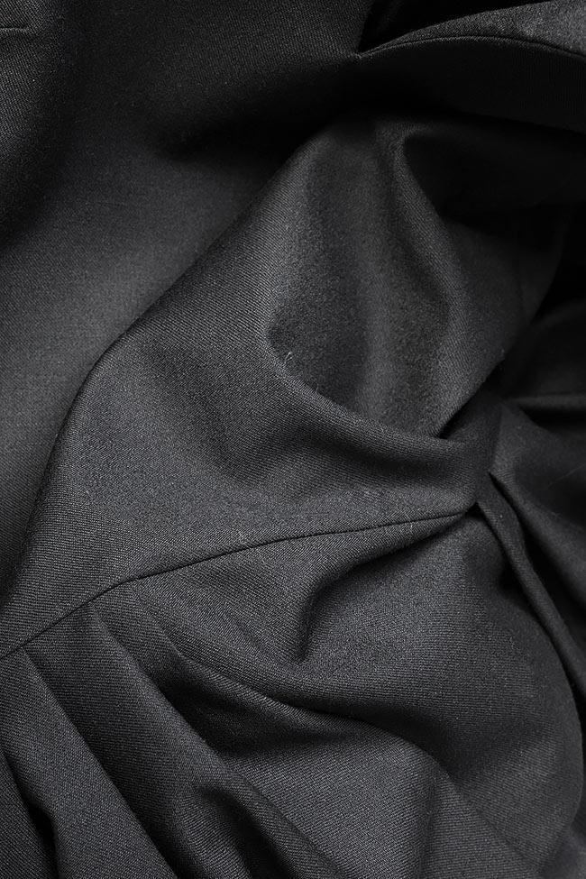Rochie asimetrica din amestec de lana Claudia Castrase imagine 4