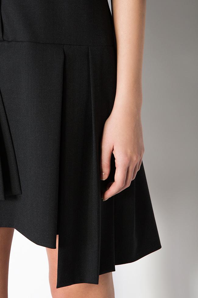 Robe asymétrique en laine mélangée Claudia Castrase image 3
