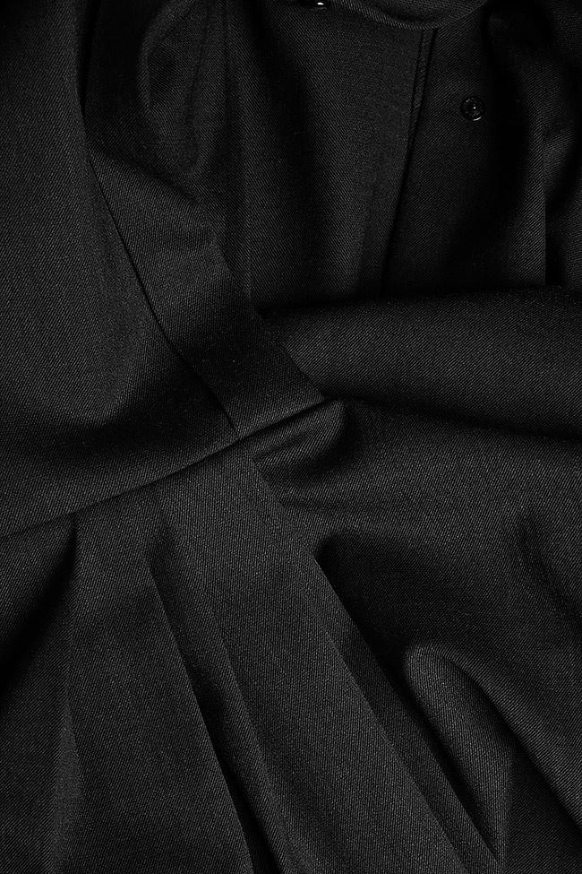 Robe asymétrique en laine mélangée Claudia Castrase image 4