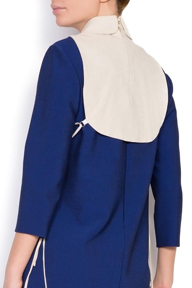 Hand embroidered linen borangic silk cropped vest  Nicoleta Obis image 2