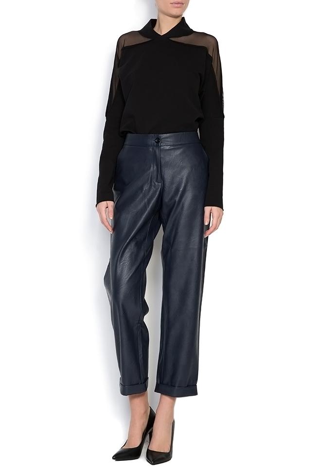Bluza din jerseu cu insertii din tul Lena Criveanu imagine 0