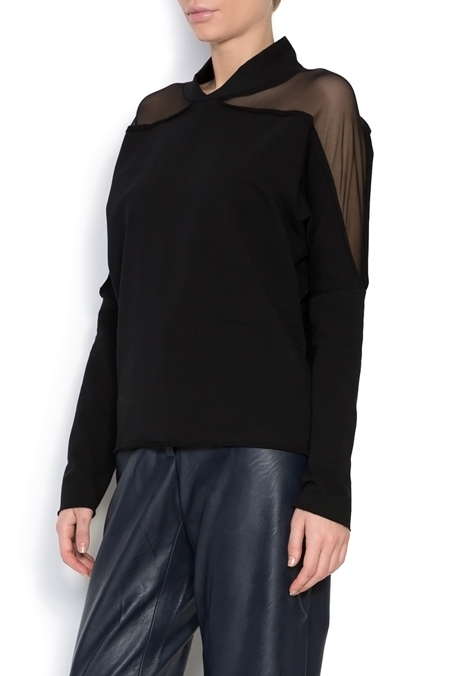 Bluza din jerseu cu insertii din tul Lena Criveanu imagine 1