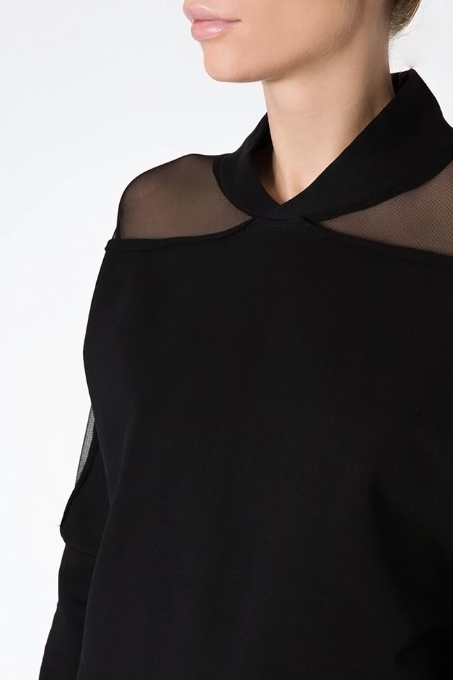 Bluza din jerseu cu insertii din tul Lena Criveanu imagine 3