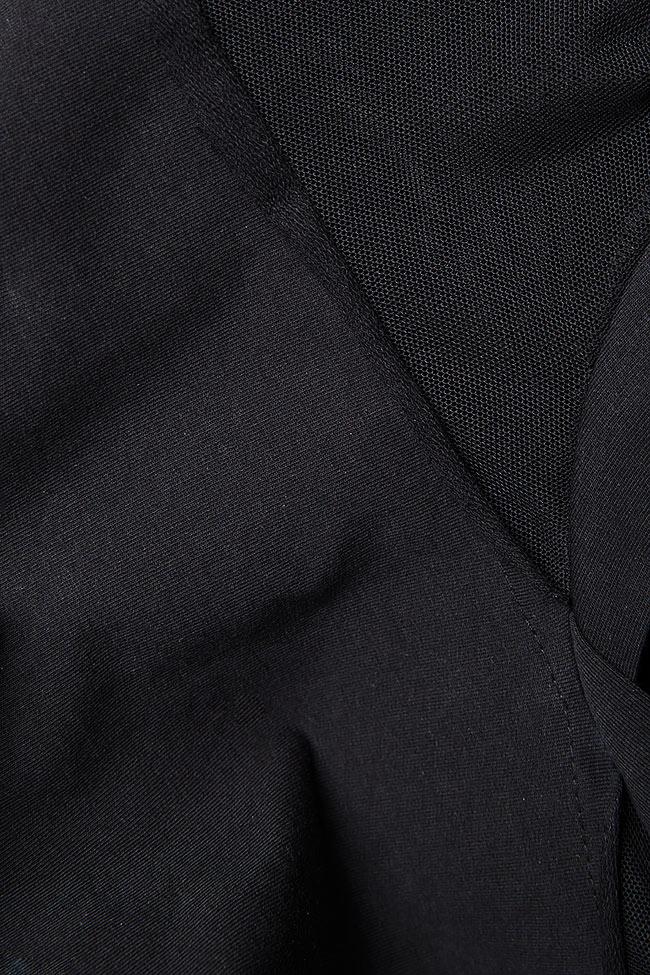 Bluza din jerseu cu insertii din tul Lena Criveanu imagine 4