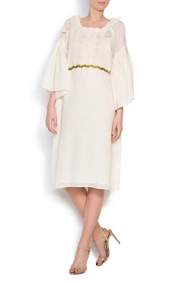 Robe à cordon, en laine mérinos, brodée à la main Izabela Mandoiu image 0