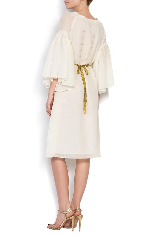 Robe à cordon, en laine mérinos, brodée à la main Izabela Mandoiu image 2