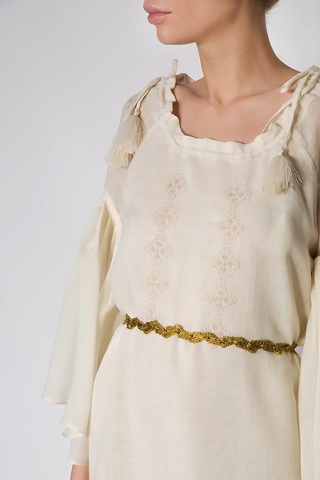 Robe à cordon, en laine mérinos, brodée à la main Izabela Mandoiu image 3