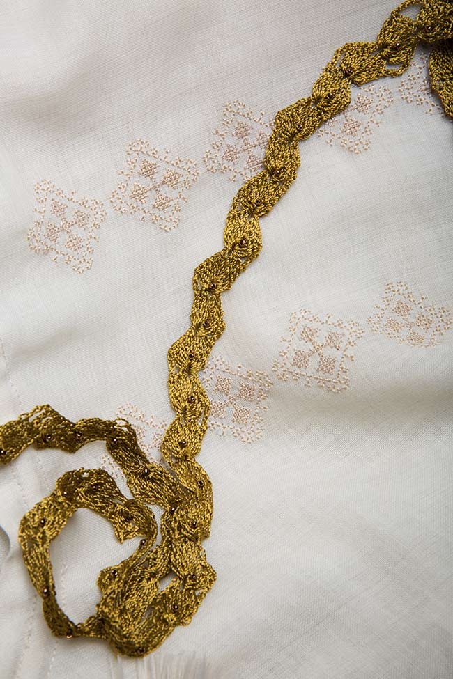 Robe à cordon, en laine mérinos, brodée à la main Izabela Mandoiu image 4