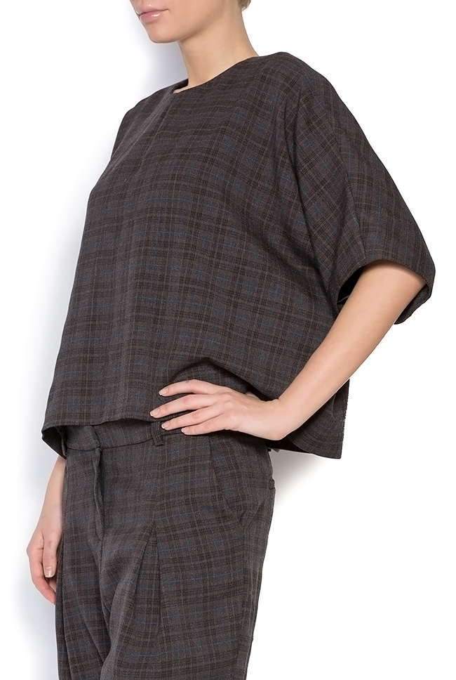 Cosette checked tartan woven top Shakara image 1